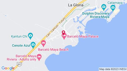 Barceló Maya Palace - All Inclusive Map