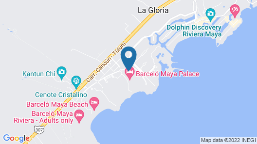 Barceló Maya Palace - All Inclusive Map
