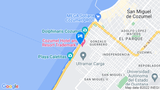 Cozumel Hotel & Resort Trademark Collection by Wyndham All Inclusive Map