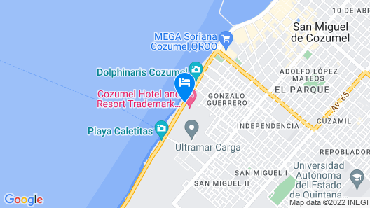 Cozumel Palace All Inclusive Map