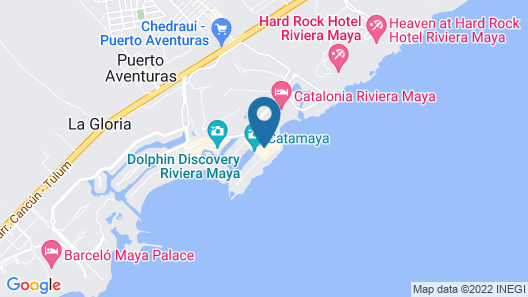 Dreams Puerto Aventuras Resort & Spa - All Inclusive Map