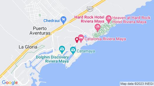 Catalonia Yucatan Beach - All Inclusive Map