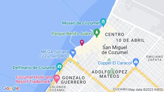 Casa Mexicana Cozumel Map