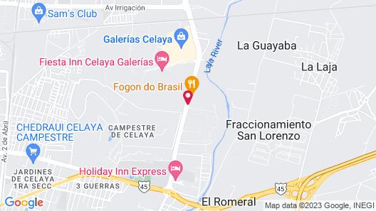 Hampton Inn Celaya Mexico Map