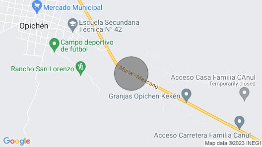Hacienda Xixim, a true Hacienda experience. Map
