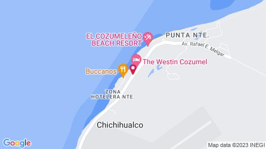Hotel Playa Azul Cozumel Map