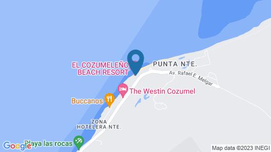 El Cozumeleno Beach Resort All Inclusive Map