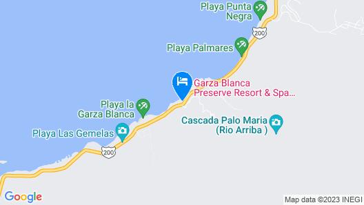 Beach Front Girasol Sur Apartments Map