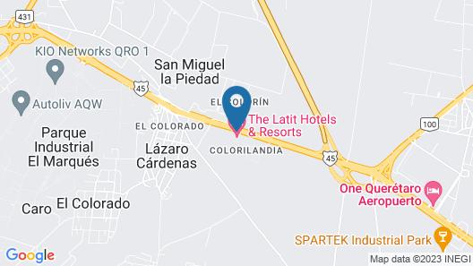 The Latit Hotel Querétaro Map