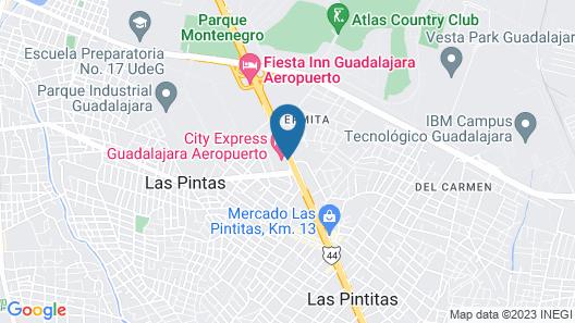 City Express Guadalajara Aeropuerto Map