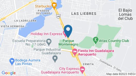 Holiday Inn Express Guadalajara Aeropuerto Map