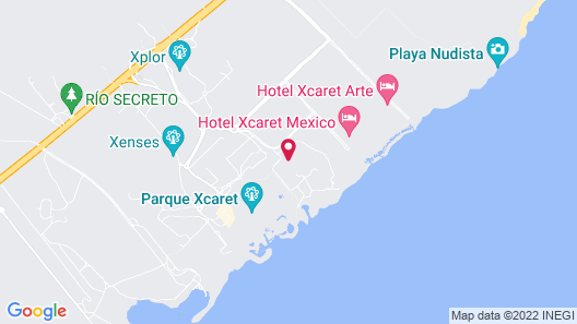 Hotel Xcaret Arte - All Parks / All Fun Inclusive - Adults Only Map