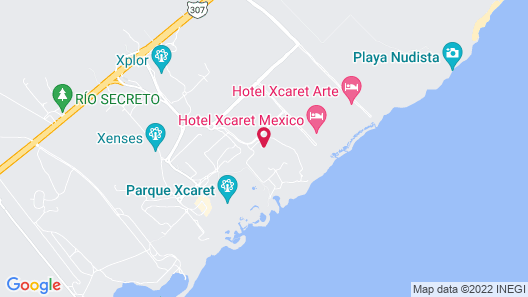 Occidental at Xcaret Destination - All Inclusive Map