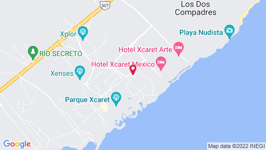 Hotel Xcaret Mexico - All Parks and Tours / All Fun Inclusive Map