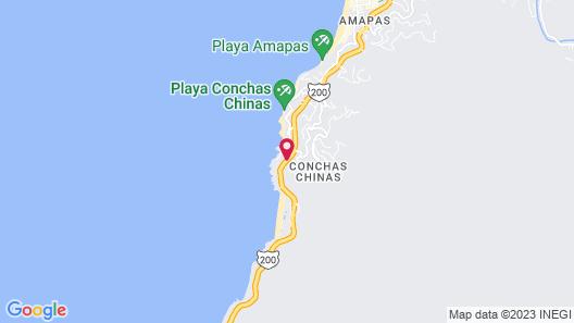 Hotel Playa Conchas Chinas Map