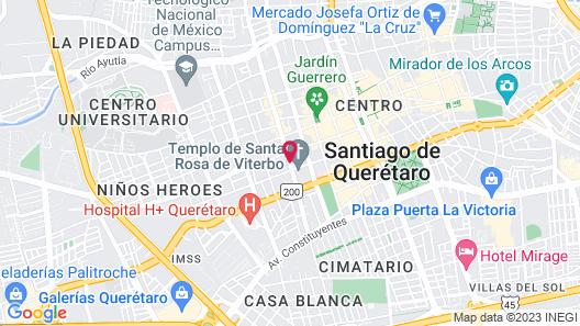 Hostal Galerie Querétaro Map
