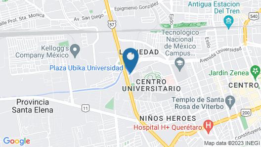Stadía Suites Querétaro Map