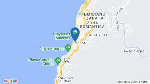 One Beach Street Zona Romantica Puerto Vallarta Map