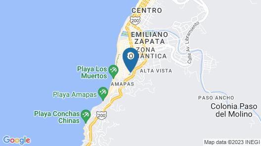 Hotel Amaca Puerto Vallarta - Adults Only Map