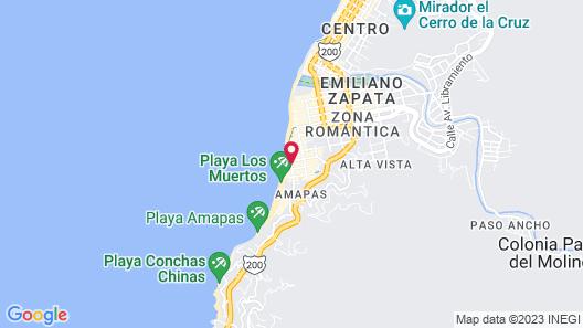 Emperador Vallarta Beachfront Hotel and Suites Map