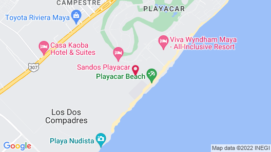 Sandos Playacar All Inclusive Map