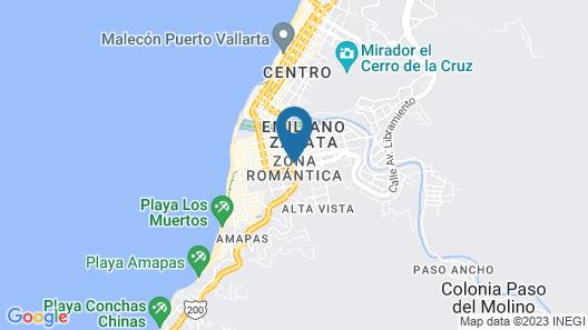 Hotel Hacienda de Vallarta Centro Map
