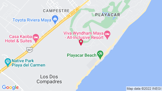 Sandos Playacar Select Club - Adults Only - All inclusive Map