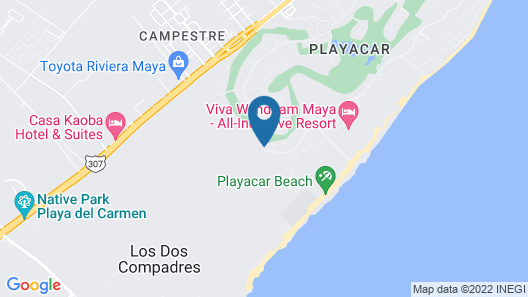 Sandos Playacar Select Club Adults Only- All inclusive Map