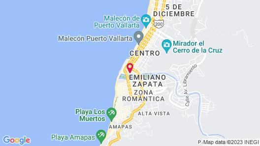 Suites Plaza del Río Map