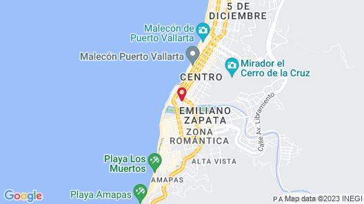 Catedral Vallarta Hotel Boutique Map