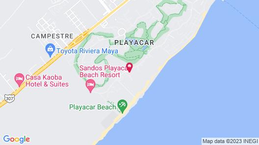 Riu Playacar All Inclusive Map