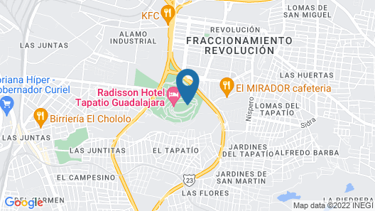 Radisson Hotel Tapatio Guadalajara Map