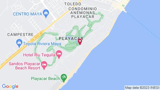 Hotel Majestic Playacar Map