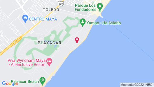 Sunset Fishermen Beach Resort Playa del Carmen Map