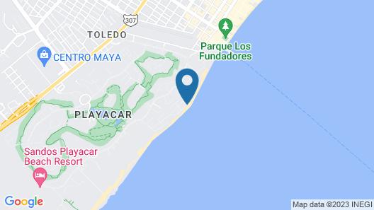 Beachfront Homes by Playa Paradise Map