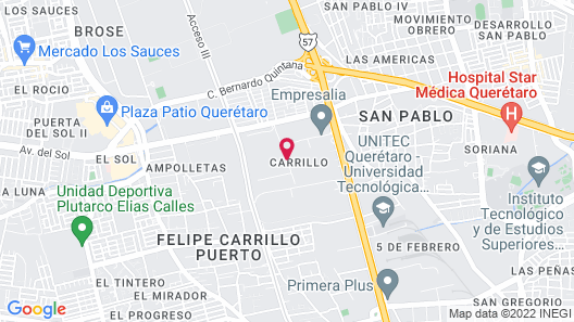 Courtyard by Marriott Queretaro Map