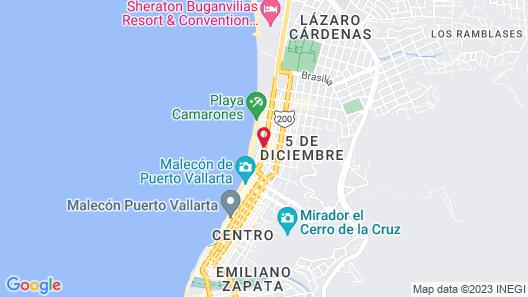Hotel Portonovo Plaza Malecón Map