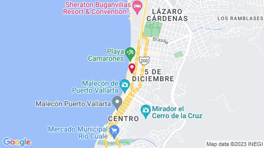 El Pescador Hotel Map