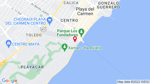 Playacar Palace All Inclusive Map
