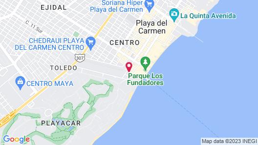 Hotel Real del Mayab Map