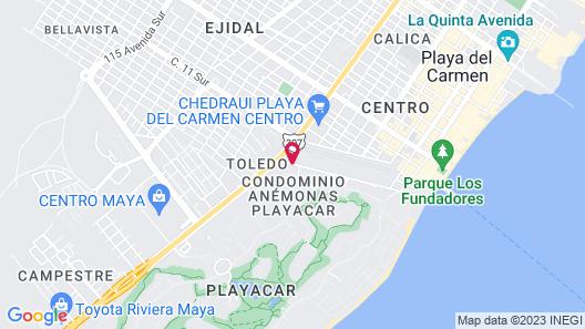 Wyndham Garden Playa del Carmen Map