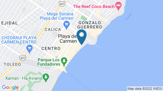 Playa Palms Beach Hotel Map