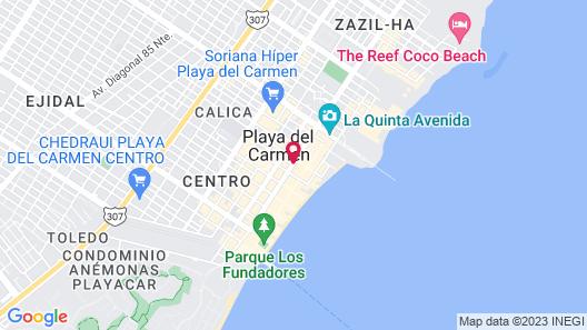 Hotel Hacienda Maria Bonita Map