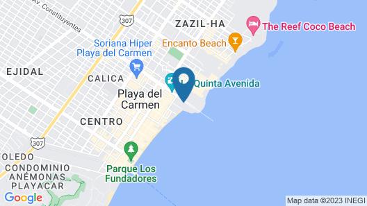 Esduma Iguanas Hotel Playa del Carmen Map
