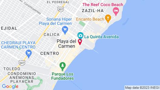 Acanto Playa del Carmen, Trademark Collection by Wyndham Map