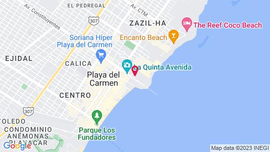Hilton Playa del Carmen, an All-Inclusive Adult Resort Map