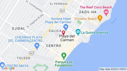 One Playa Del Carmen Map