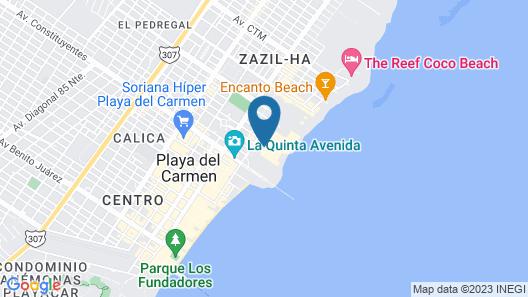 Grand Hyatt Playa Del Carmen Resort Map