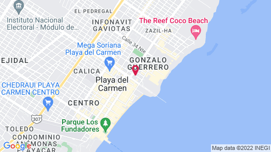 La Reina Roja Hotel Boutique - Adults Only Map
