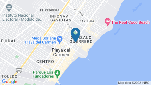 Soho Playa Hotel Map